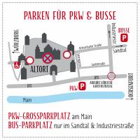 Hier parken Sie an den vier Adventswochenenden von 13:00-19:00 Uhr